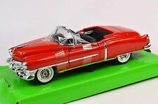 CADILLAC ELDORADO 1953 RED WELLY 22414 1:24 NEW DIECAST MODEL HOOD DOWN