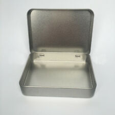 Survival Kit Small Empty Silver Flip Metal Storage Box For Money Coin Candy Keys