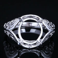 sterling silver 925 semi-mount engagement wedding ring Oval Cut 11X9mm Wholesale