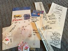Scrapbooking Sticker Lot Mixed Love Marriage Embellishments Dimensional Paper
