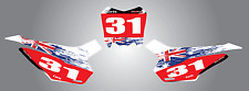 Honda CRF 110 2013 - 2015 model custom number plate stickers/decals AUSSIE PRIDE