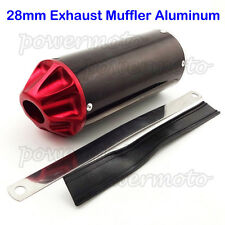 28mm Red Exhaust Muffler For 50cc 90cc 110cc 125cc XR50 CRF50 Pit Dirt Bike