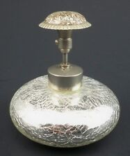 DeVilbiss Silver Mercury Crackle Glass Atomizer Perfume ~ Excellent Condition