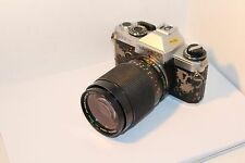 """YASHICA """" FX-D QUARTZ SLR with YASHICA 28-80mm ZOOM LENS , WORKING WELL !!"""
