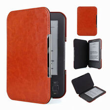 Brown Slim Leather Protector Pouch Skin Case Cover For Amazon Kindle Keyboard