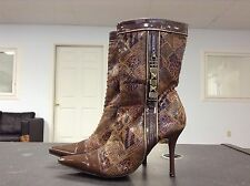 Wild Rose Brown Fashion Ankle Boots Women's Size 6.5 B