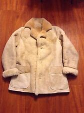 Vtg Men's SHEARLING Sheepskin Sheep Skin Leather Jacket Coat Thick Warm Sz M 40
