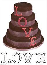 Love L O V E Lettere Grandi Patchwork Sugarcraft Cutter il giorno successivo la spedizione