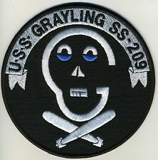 USS Grayling SS 209 - Skull in shape of G/Cross Torpedoes BC Patch Cat No C5703