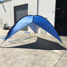 Blue Beach Tent Shelter Sun Shade Outdoor UV Pop up 16'x16'x16' Cabana