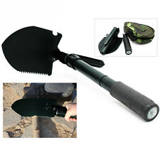 Black Survival Folding Shovel Spade Portable Garden Camping Hiking Outdoor Tool