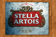 Stella artois la bière métal tin sign bar pub club wall home den man cave decor