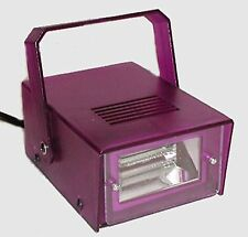 (1) STROBE DISCO NEON LIGHT - Adjustable Speed w/Bracket - Electric - Purple