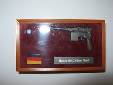 Phoenix Hobby 1/6 Toy WWII German Mauser M96 7.63mm Metal Pistol in shadow box