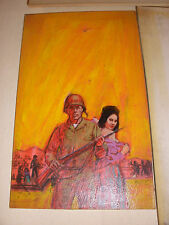 lot 3 DARRELL GREENE lurid pulp original art military war illustrations painting