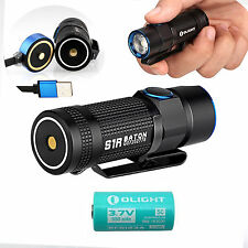 Olight S1R Baton 900 Lumen USB Rechargeable LED Flashlight w/ RCR123 5C- S1 S10R