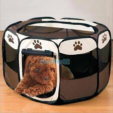 Portable Pet Dog Cat Fence Tent Exercise Pen Crate Indoor Outdoor Soft Relax Bed