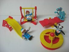 1989 McDonald Happy Meal premium Raggedy Ann Andy Camel Panda playset COMPLETE