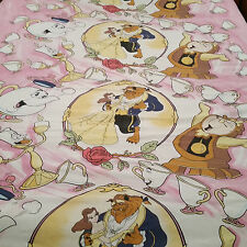 Disney Beauty and the Beast Flat Twin Sheet 67 X 92 Craft Cutter Fabric Material