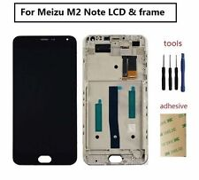 For Meizu M2 Note LCD Display Screen Touch Digitizer Sensor Assembly with Frame