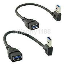 90 Degree Right Angle USB 3.0 A Male to Female M/F Extension Data Sync Cable UK