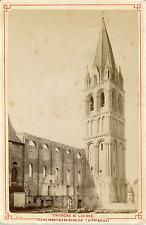 France, Beaulieu-lès-Loches, l'Eglise Abbatiale  Vintage albumin print