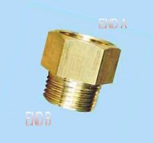 "1/4"" Female NPT to 1/8"" Male NPT Coupling Brass Pipe Fitting Gauge adapter N-8M"