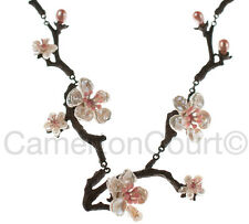 Cherry Blossom Twig Necklace by Michael Michaud for Silver Seasons