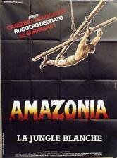 """""""AMAZONIA LA JUNGLE BLANCHE (CUT AND RUN)"""" Affiche originale (Ruggero DEODATO)"""