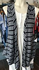 METALICUS GREY & BLACK STRIPED LAYERING OPEN WAISTCOAT / CARDIGAN 1 size £89