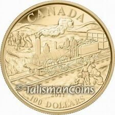 Canada 2011 Dorchester 0-4-0  Steam Locomotive 175th Anniversary $100 Gold Proof