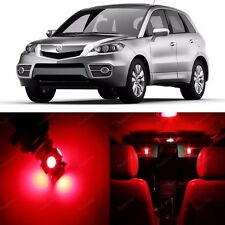 11 x Ultra Red LED Interior Light Package Kit For Acura RDX 2007 - 2011