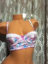 Gilly Hick By Abercrombie & Fitch Lightly Lined 32D Floral Bustier Nwt Bra  A&F
