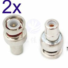 2x BNC Male to CA Female M/F AV Straight Connector Adapter Coupler Converter