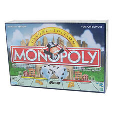 Parker Brothers - Monopoly Board Game (Deluxe Bilingual Edition -English/French)