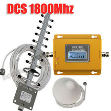 LCD Display 4G DCS LTE 1800MHz Mobile Signal Booster Repeater Amplifier + Yagi