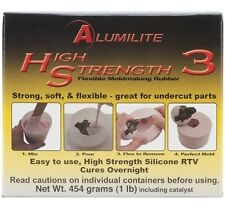 Alumilite High Strength 3 Liquid Mold Making Rubber Pink Silicone RTV 1-Pound