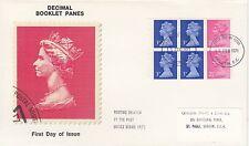 (46875) GB FDC P 17,5 Livret Volet 3p 2,5p - Londres EC 15 Février 1971