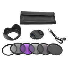 52mm UV CPL FLD ND Lens Filter Hood For Nikon D3100 D5200 18-55 Canon