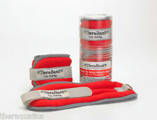 THERABAND ANKLE WRIST WEIGHTS 1lb Each 2lb PAIR Adjustable Rehab Exercise HYG310
