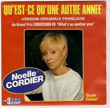 """Noëlle Cordier """"Qu'est-ce qu'une autre année"""" Logan Eurovision 1980 Comme NEUF"""