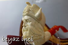 VIKING AND EAGLE COLLECTIBLE MEERSCHAUM SMOKING PIPE PFEIFE BY SELVER