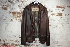 GIORGIO BRATO LEATHERJACKET ORGANIC BROWN, NEW,  SIZE 54. SALE!