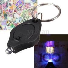 Mini LED Lampe Poche Porte-clé Torche Lumière+UV Detecteur Billet Monnaie Argent