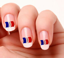 20 Nail Art Decals Transfers Stickers #233 - French Flag