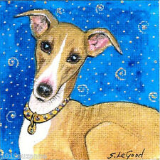 LTD EDIT GREYHOUND DOG PAINTING PRINT SUZANNE LE GOOD