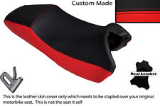 RED & BLACK CUSTOM FITS HONDA X 11 CB 1100 SF 99-03 DUAL LEATHER SEAT COVER