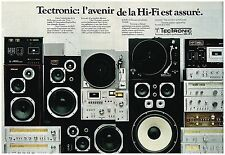 Publicité Advertising 1977 (2 pages) La Chaine Hi-Fi Tectronic