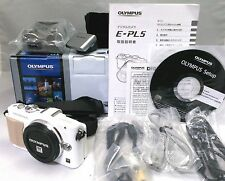 OLYMPUS PEN E-PL5 16.1 MP White [Mint] From Japan Original Box and others