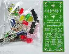 TRAFFIC LIGHT 4 WAY 12 LED unassembled kit for electronic student CD4017 project